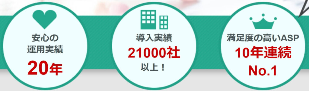 ・企業のアフィリエイト広告「導入実績」は、21000社以上と業界最大級! ・1999年10月1日設立。20年以上の運営実績。